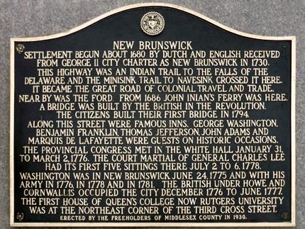 New Brunswick, New Jersey Revolutionary War Sites | Historic